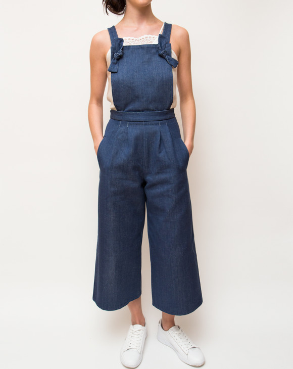 Hackney Jumpsuit_Blue Fleck