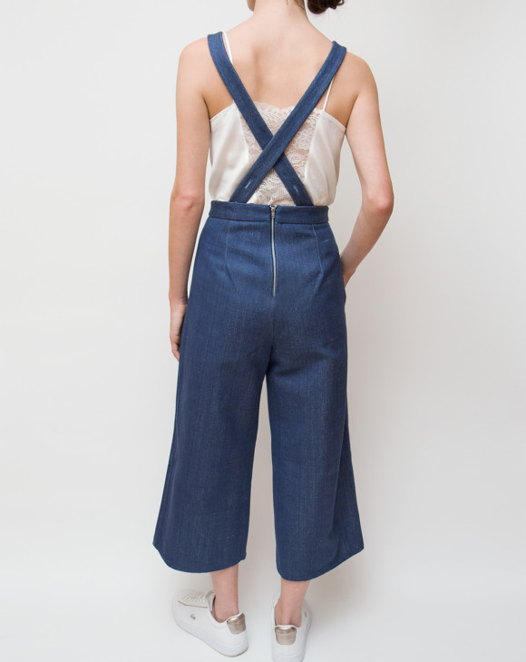 Hackney Jumpsuit_Blue Fleck_Back
