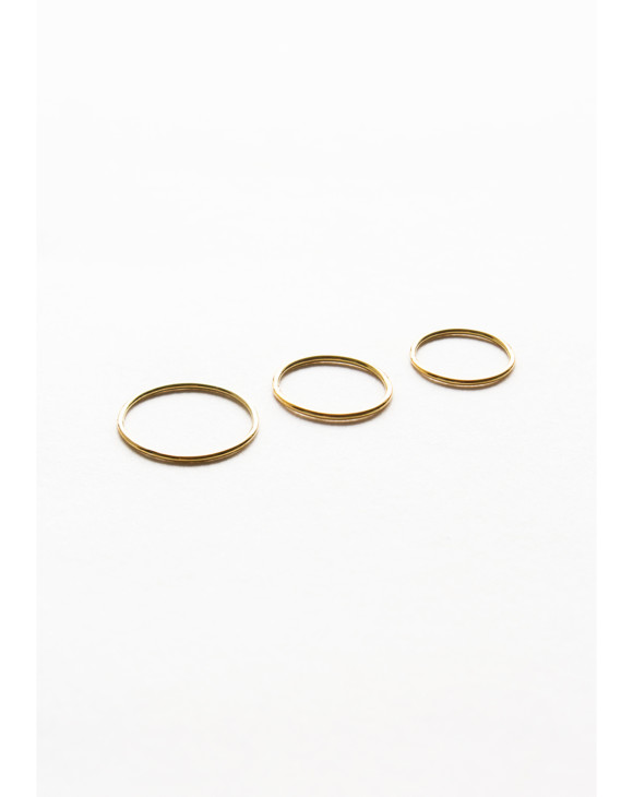 Sun triple ring brass 2