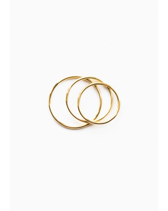 Sun triple ring brass