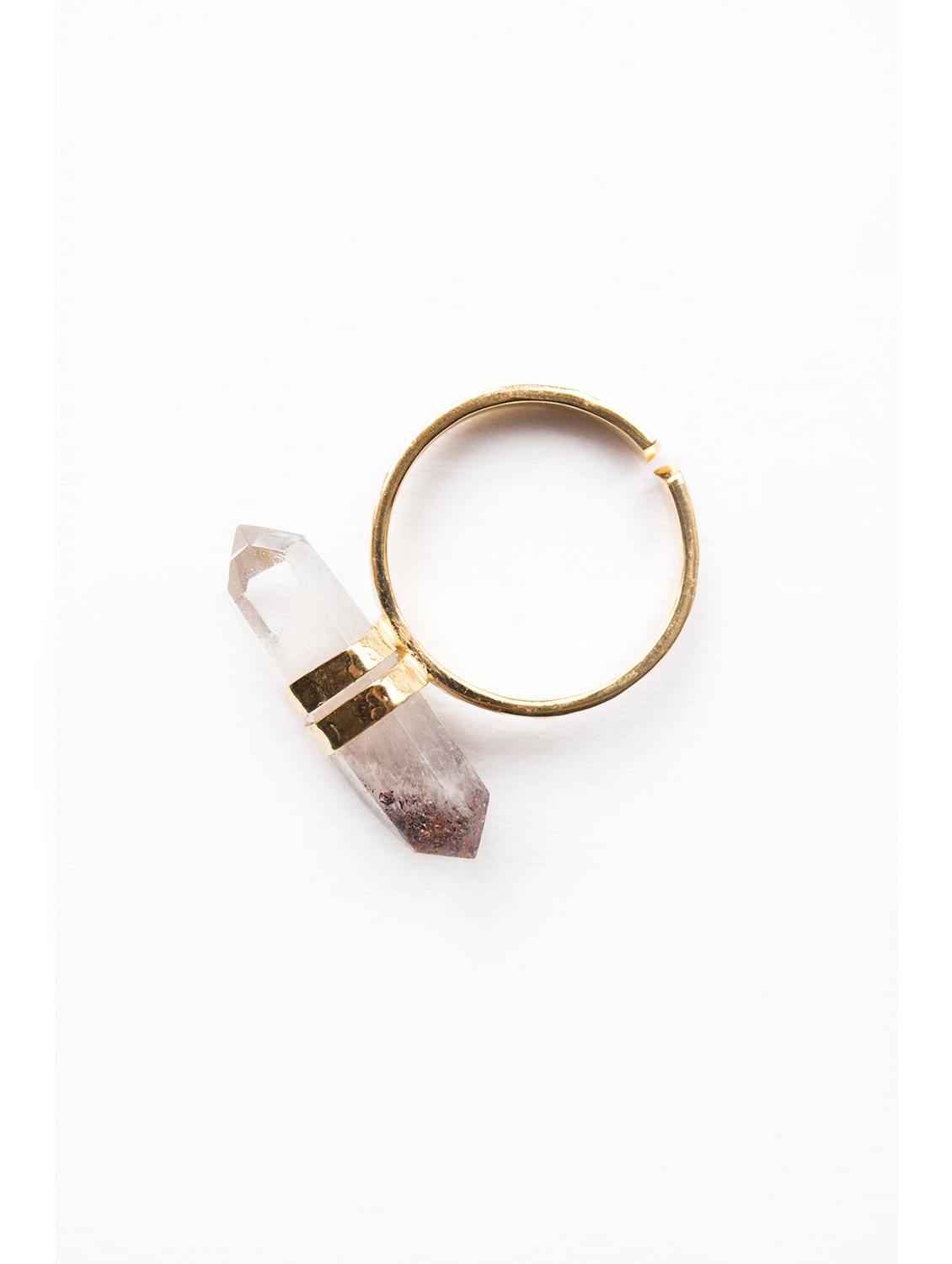 harlequin point gold plated ring