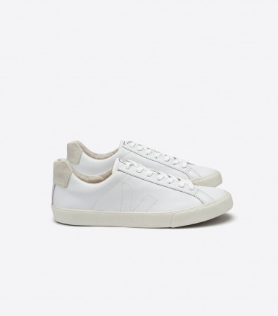VEJA_ESPLAR LOW_LEATHER_EXTRA WHITE_lateral par