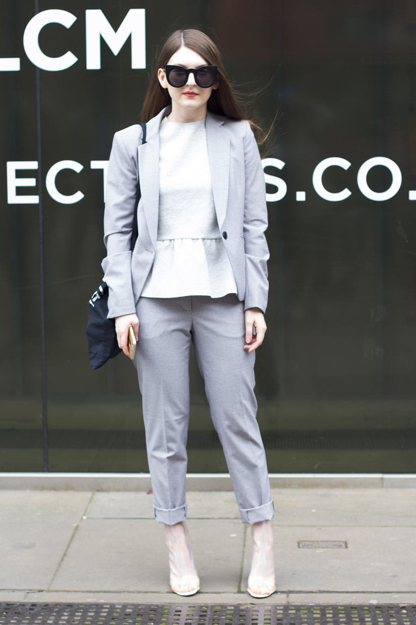 Girl in Grey Suit